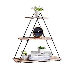 PENGKE Wall Shelf Modern Floating Shelves Bathroom 3 Tier Mounted Shelving Bedroom 20 Inch for Home Decor