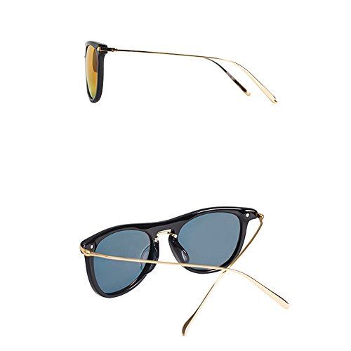 lunettes lentille de miroir nylon polarisées rétro de Memory A lunettes soleil Plastique pilote Plate soleil lunettes en boîte lunettes protection visage ronde UV soleil hommes de Lady 6xgTZ4Oqw
