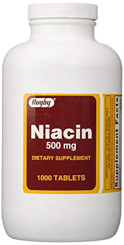 Cheap Rugby Niacin 500 mg 1000 Tabs Pack of 2