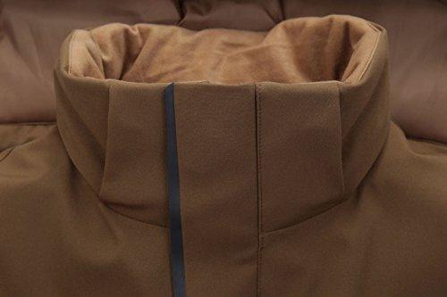 Colore Con Piumino Dyf Giacche Dimensioni Solido Fym Ispessite Tasca Grandi Zenzero Giallo Zip Cappotto Cappello qSCgw