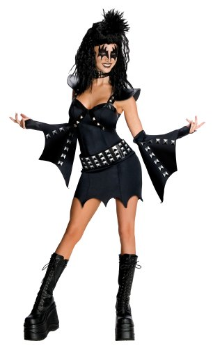 Secret Wishes KISS Sexy The Demon Costume, Black, X-Small for $<!--$59.99-->