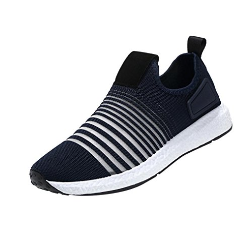 Scarpe Sportive Uomo ASHOP Scarpe Casual da Uomo Primavera Scarpe da Corsa Traspiranti Scarpe Sportive di Moda Sneakers Blu