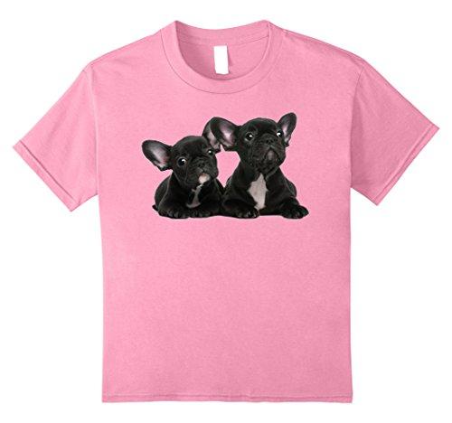 unisex-child Boston Terrier Puppy T-Shirt 8 Pink (Boston Kids T-shirt)