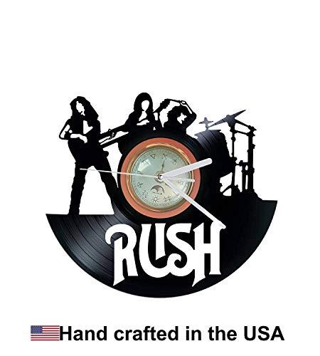 (Vinyl Clock, Rush, Clockwork Angels, Christmas gift, Wall clock, vinyl record clock)