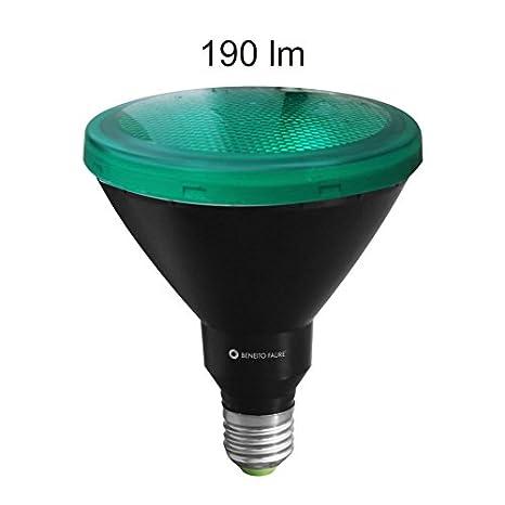 PAR38 LED 15 W 230 V E27 30 ° verde IP65 LED Reflector Lámpara (posibilidad