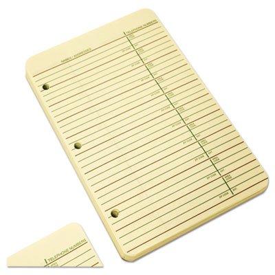 Looseleaf Phone/Address Book Refill, 5 1/2 x 8 1/2, 80 Sheets by Wilson Jones