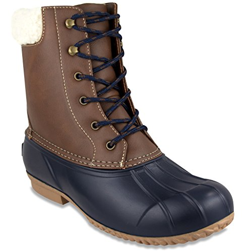 Womens Navy Fur London Weather Cold Fog W Boot Duck Top Wonder AwqB5C0