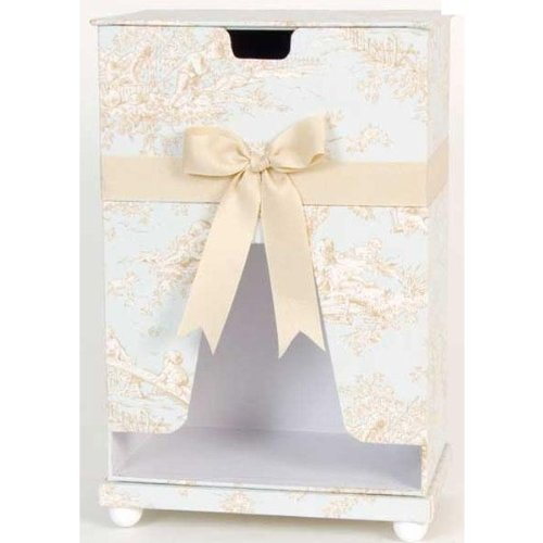 Glenna Jean Central Park Diaper Caddy, Blue/Chocolate/Tan/White, 10'' x 7''x 14'' by Glenna Jean