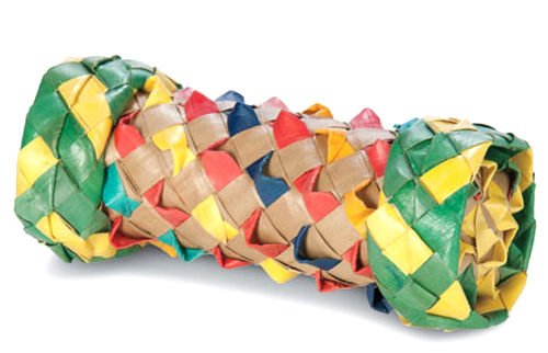 Image of 03344 Dumbbell Foot Toy Parrot Birds Toys Craft Part Talon Foot Chew Shred Play