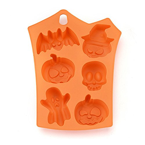 LiPing Creative Happy Halloween Silicone Pumpkin Cake Silicone Mold Biscuit Pastry Kitchen Cooking Utensil Tools Set,Baking Mold Pan,Nonstick,Reusable (23×17.5×1cm) -