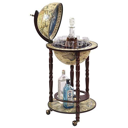 Design Toscano Sixteenth Century Replica Globe Bar Cabinet, 34.5 Inch, Crema Durata by Design Toscano