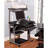 Mobile Computer Tower with Shelf, Multiple Finishes,black Review