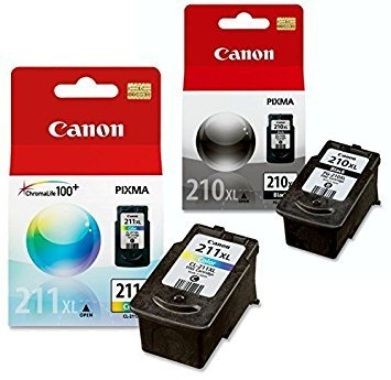 Canon PG-210 XL and CL-211 XL Ink Pack Bundle, Compatible to MP495,MP280,MP490,MP480,MP270,MP240, MX420,MX410,MX350,MX340 and MX330 (Mp495 Canon Ink)