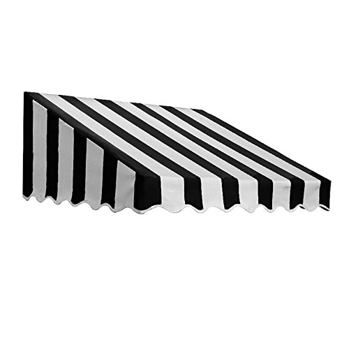 Yarn Stripe Awning (Awntech 6-Feet San Francisco Window/Entry Awning, 18-Inch Height by 36-Inch Diameter, Black/White)