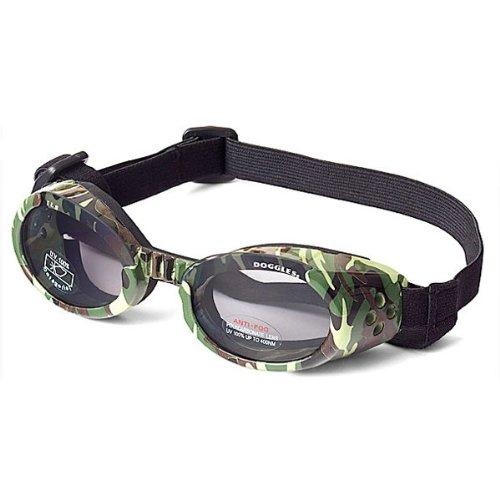 Doggles ILS X-Small Green Camo Frame and Smoke Lens LLC DGILXS10