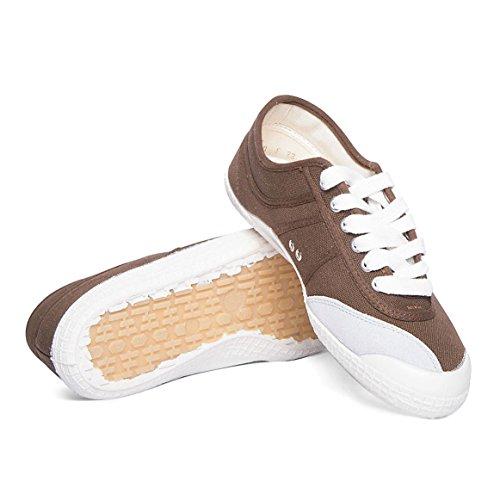 Kawasaki scarpe unisex Players Basic Tela Marrone