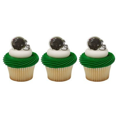 NFL Atlanta Falcons Cupcake Helmet Rings Cake Decoration 24 Count
