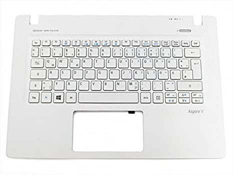 Teclado, Alemán (de) + Top de Case - Blanco para Acer Aspire V3 - 331 Serie: Amazon.es: Electrónica