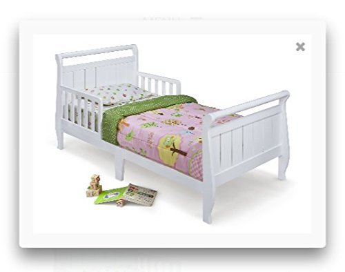 Delta Enterprise White Delta Sleigh Toddler Bed by Delta