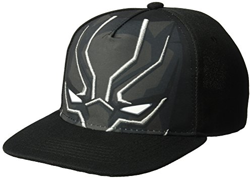 Panther Face (Marvel Men's Black Panther Big Face Baseball Cap, Metallic 3D Embroidery, one Size)