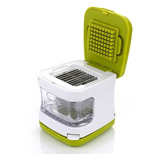 Garlic Cube Garlic Press Garlic Mincer and Chopper Hand Held Squeezer Garlic Grater Kitchen Tool for Garlic Lovers, Easily Slice or Cube Garlic Cloves Without The Mess, Dishwasher Safe