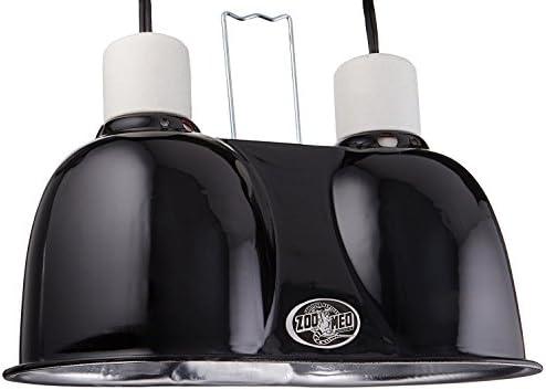 Labs Mini Combo Deep Dome Dual Lamp Fixture,Black Premium pack