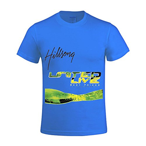 Hillsong United Best Friend Live Men Shirts Crew Neck Graphic Blue (Hillsong United Best Friend compare prices)