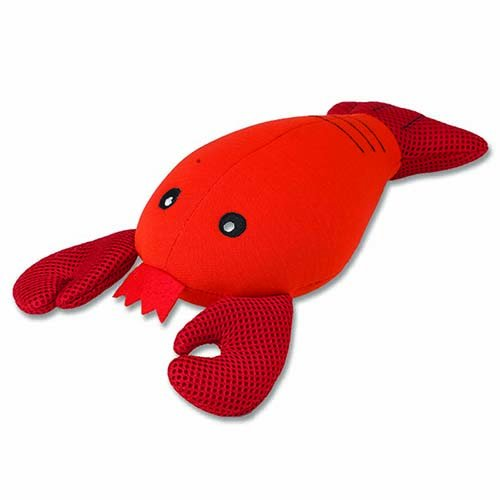 Pet Rageous Floatrageous Louie The Lobster Toy, 8-Inch Length, Red
