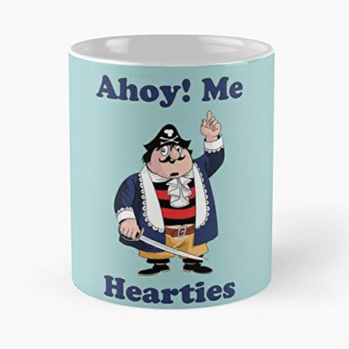 Captain Pugwash Pirate Master - 11 Oz Coffee Mugs Unique Ceramic Novelty Cup, The Best Gift For Holidays.