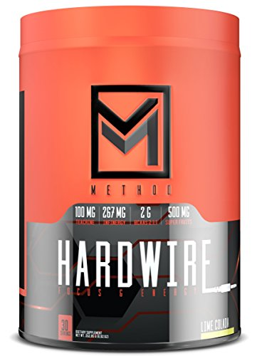 Hardwire – Premium Energy & Focus Formula with Infinergy Caffeine, Teacrine, Huperzine, Choline, BCAA, Green Tea, Taurine, Superfruit Antioxidants, Electrolytes, More – 30 Servings (Lime Colada) For Sale