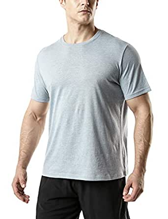Tesla Men's Dynamic Cotton Short Sleeve Athletic T-Shirt MTS50-GRY