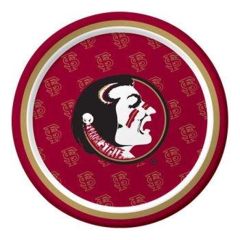 [Creative Converting Florida State Seminoles Dessert Paper Plates (8 Count)] (Florida Themed Costumes)