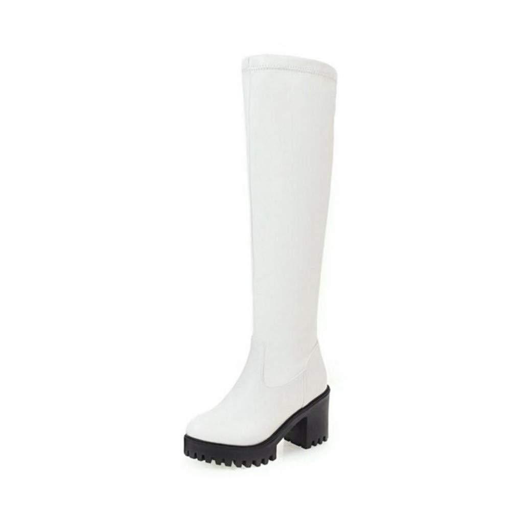 HAOLIEQUAN Größe 33-45 Frauen Kniehohe Stiefel Winter Plattform Frauen Schuhe Schuhe Schuhe Starke Ferse High Heels Stiefel Mode Damen Schuhe 0e925d