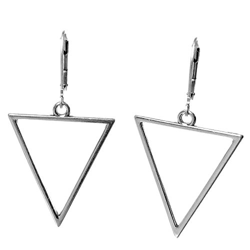 Eighties New Wave Open Triangle Hoop Earrings