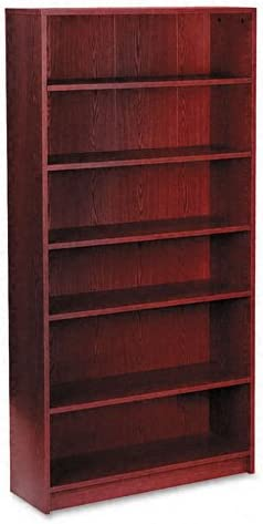 HON 1870 Series Bookcase, 6 Shelves, 36 W by 11-1 2 D by 72-5 8 H, Mahogany
