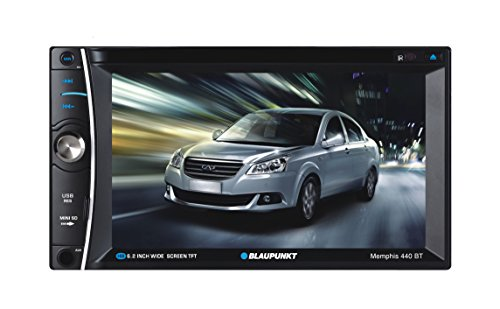 Blaupunkt MEMPHIS 6.2-Inch In Dash Touch Screen DVD Multimedia Car Stereo Receiver with Bluetooth and Remote Control