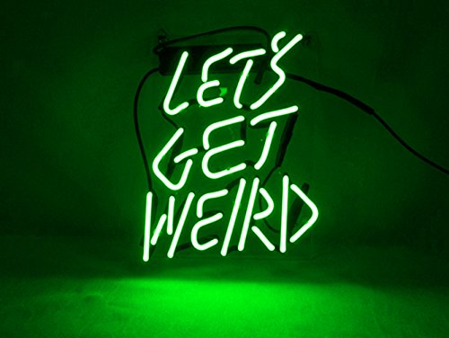 "Neon Sign Decor Let's Get Weird for Beer Bar Bedroom Garage Game Room 12""x 9.8"" (Green)"