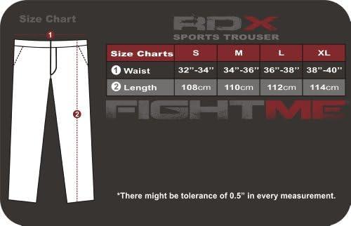 RDX Auténtico Pelea me Fleece Pantalones Pantalones UFC MMA ...