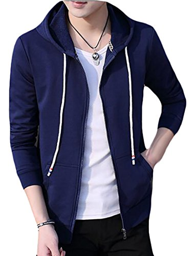 Zip Sleeve Men's up Navy blue Casual Fashion Sweatshirts today UK Long Hoodie lightweight qYIYgwp