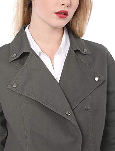 Sciolto Monocromo Outdoor Ragazza Moda Giubbino Leggero Manica Giovane Fashion Ragazze Giacche Casual Eleganti Grau Cappotto Donna Outerwear Primaverile Bavero Autunno Lunga wFqPzTvq