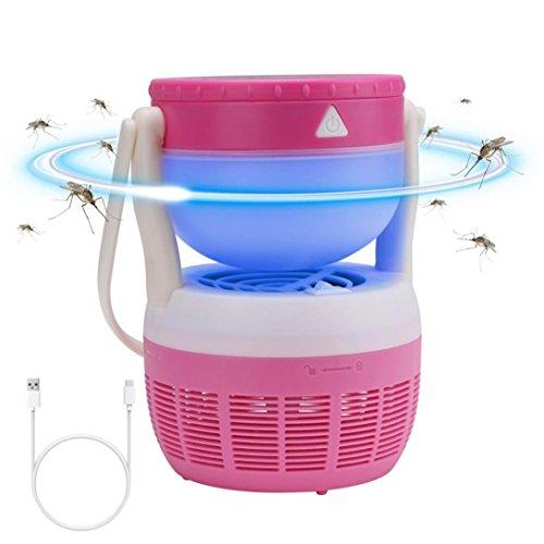 Terra Finial Cotta (SHJNHAN LED Home Multi-function Radiation-free USB Mosquito Killer (Pink))