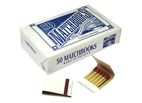D.D. Bean & Sons  50 Plain White Matches Matchbooks for Wedding Birthday Wholesale Made in -