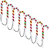 Gemmy Orchestra of Lights 8-Count 181 Multi-Function Color Changing LED Plug-in Outdoor Christmas Candy Cane Lights - New for 2018