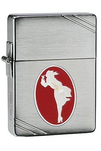 Zippo 1935 Replica Windy Collectible of the Year Pocket Lighter, Brushed Chrome