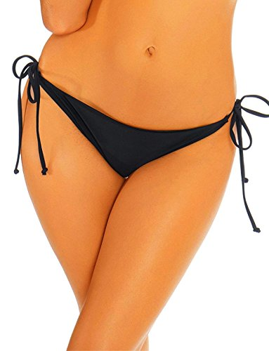 ottoms Adjustable Ruched Butt Back Ruffle Cheeky Thong Underwear s ()