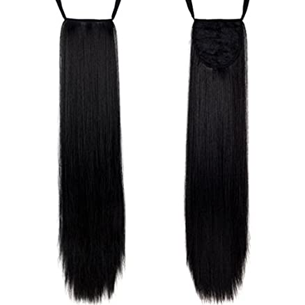 Kabello straight ponytail extensions with ribbon black amazon kabello straight ponytail extensions with ribbon black pmusecretfo Image collections