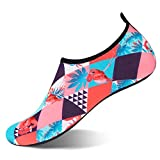 Water Shoes Womens Mens Summer Barefoot Shoes Quick Dry Aqua Socks Beach Swim Yoga Exercise (Flamingo/Pink, 40/41)