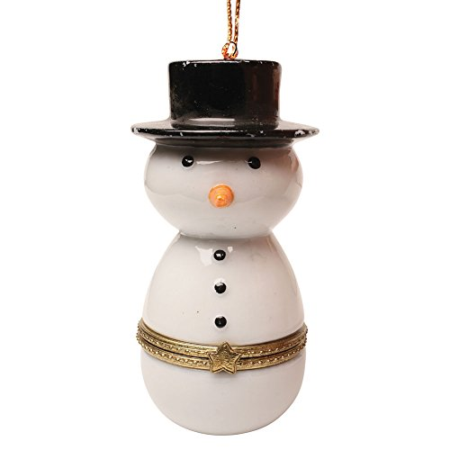 Snowman Hinged Box - Porcelain Surprise Ornaments Box - Snowman