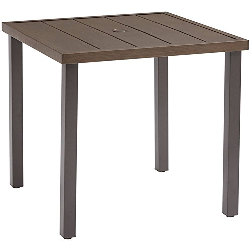 Durable Metal Slat Steel Bistro Table with Faux Wood Finish, Easy to Assemble by Better Homes & Gardens