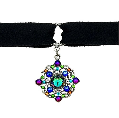 Anne Koplik Personal Power Crystal Choker with Multi-Color Swarovski Crystals 138 ()